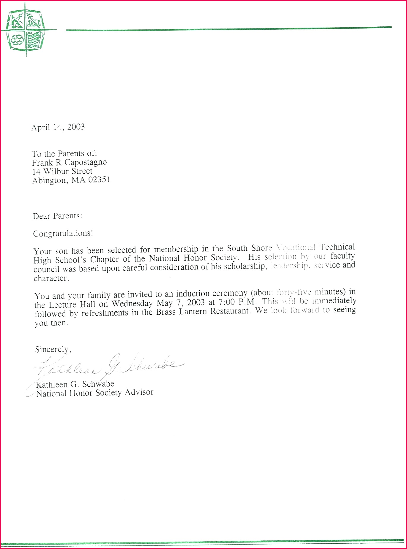 nhs letter re mendation template unique national honor society of nhs letter of re mendation template 1