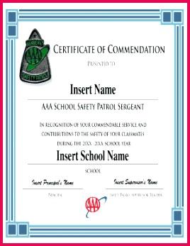 printable safety patrol certificates form