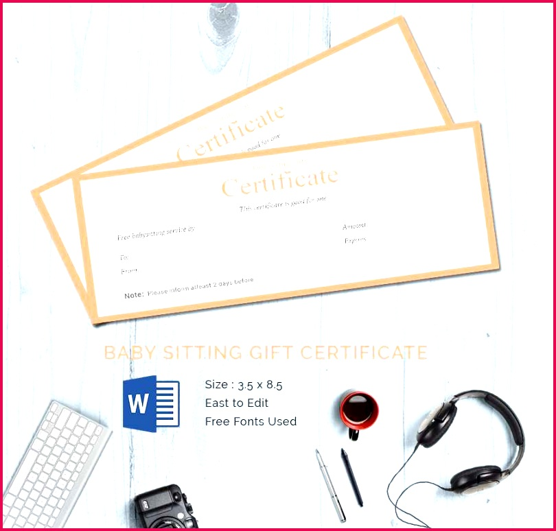 free babysitting t certificate template present babysitting t certificate template