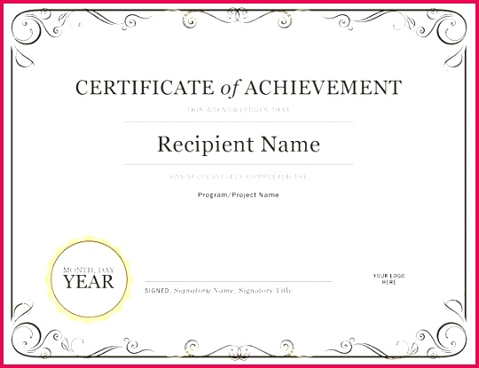 printable pletion certificate template word doc best of templates blank certificates successful online