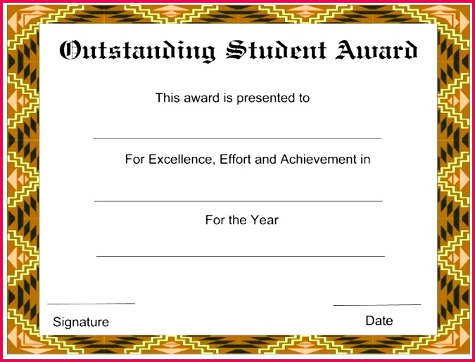 student certificate template free award templates for students the of year awards