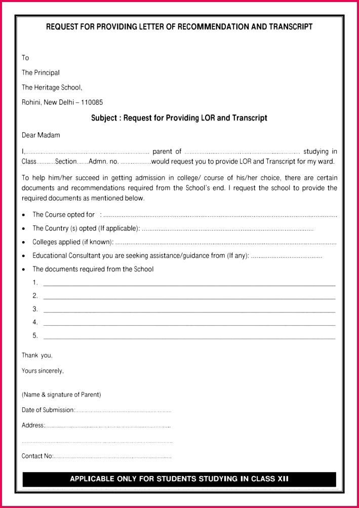 Permission to Request for Re mendation for Transcript Letter 788x1115