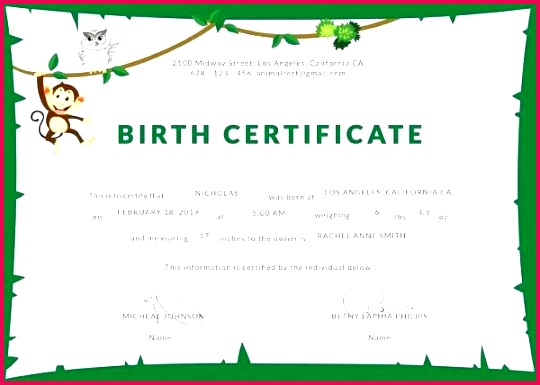 animal birth certificate template sample pet certificates blank simple voucher pdf free medical word