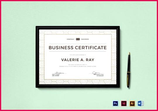 Business Certificate shop Template