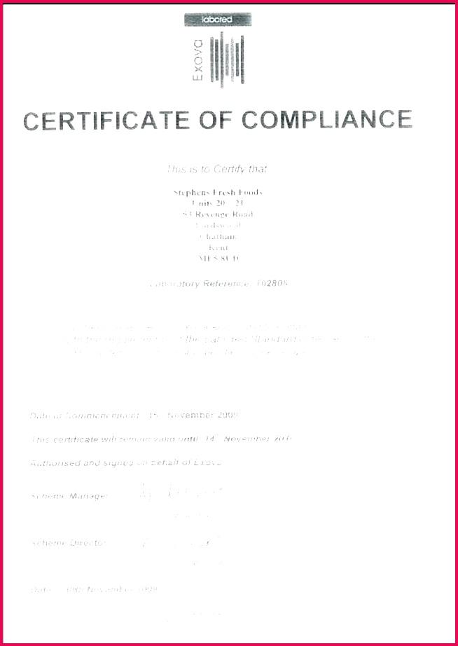 certificate of pliance template lovely plumbing certificate of pliance template of certificate of pliance template