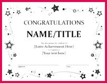 9 Congratulation Certificate Templates