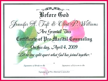 premarital certificate of pletion template images free marriage counseling pre fre
