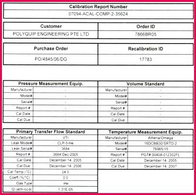 pressure test certificate template fresh sample calibration gauge image tes