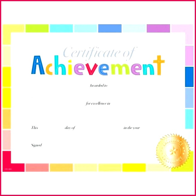 free printable certificate of excellence template inspirational blank