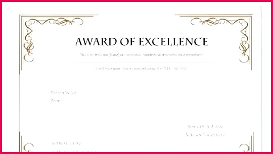 free printable certificate template examples in word blank of excellence certificates are documents that celebrate these