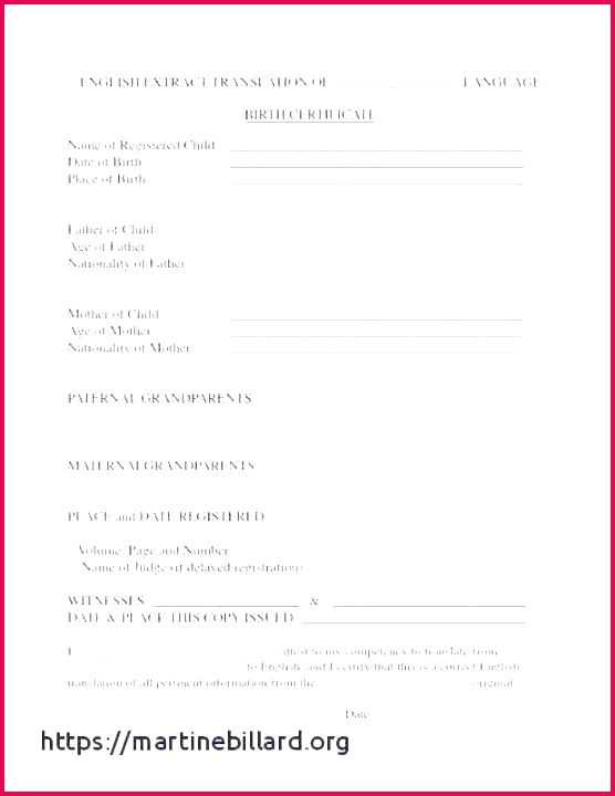 free birth certificate templates for word unique template of translation marriage printable certificates rabbits