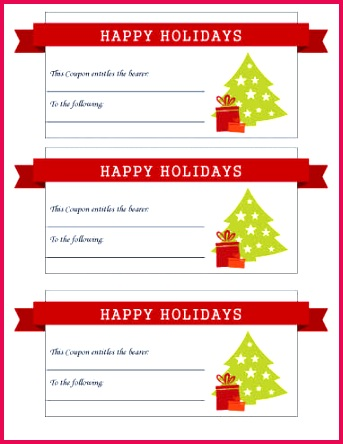 Happy Holidays With Ribbon Coupon