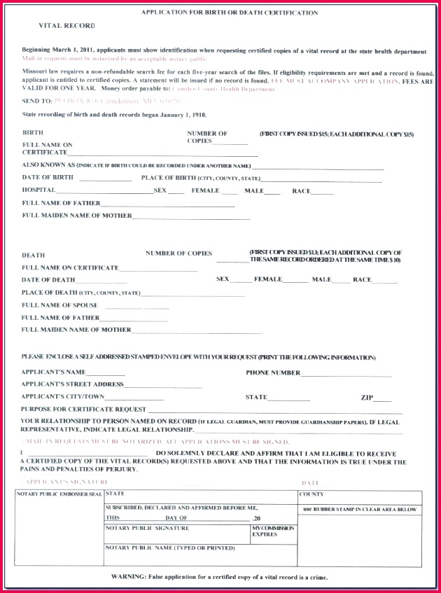 blank birth certificate form pictures of certificates printable