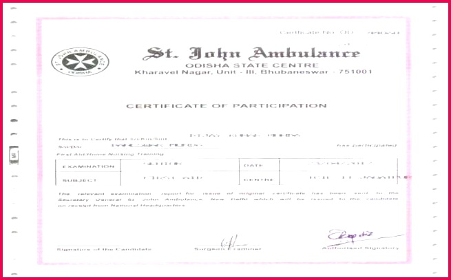 first aid certificate template or image medium first aid certificate template