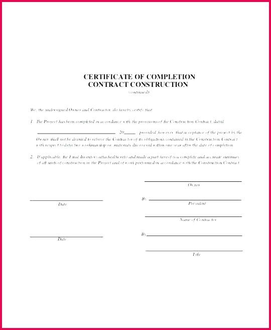 template construction project pletion certificate of templates fr acceptance practical templat