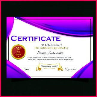 pngtree dark purple certificate template for multipurpose image