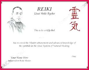 papyrus reiki certificate template landscape by reikicertificates