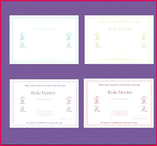 Personalised plete Set Reiki Certificate Templates x4 Etsy Spirituality