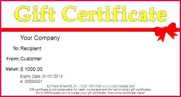 Gift Certificate Template Download Adams Certificates