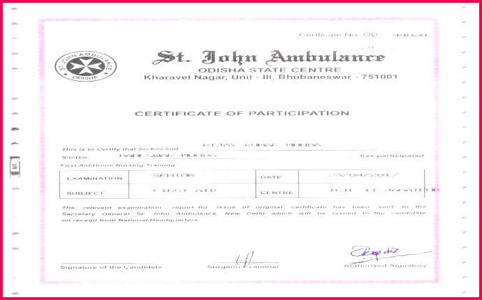 certificate template fascinating first aid of unique t word