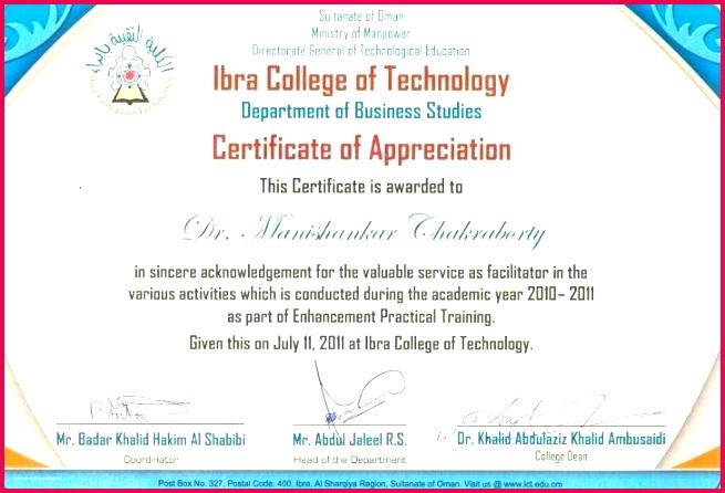 examples of award certificate wording and appreciation wordings medium sample 2