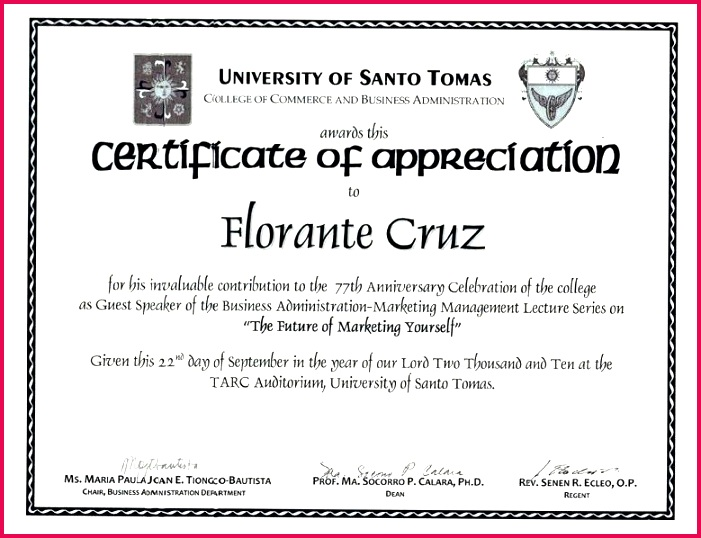 sample wording certificate appreciation guest speaker archives example of for graduation volunteer app