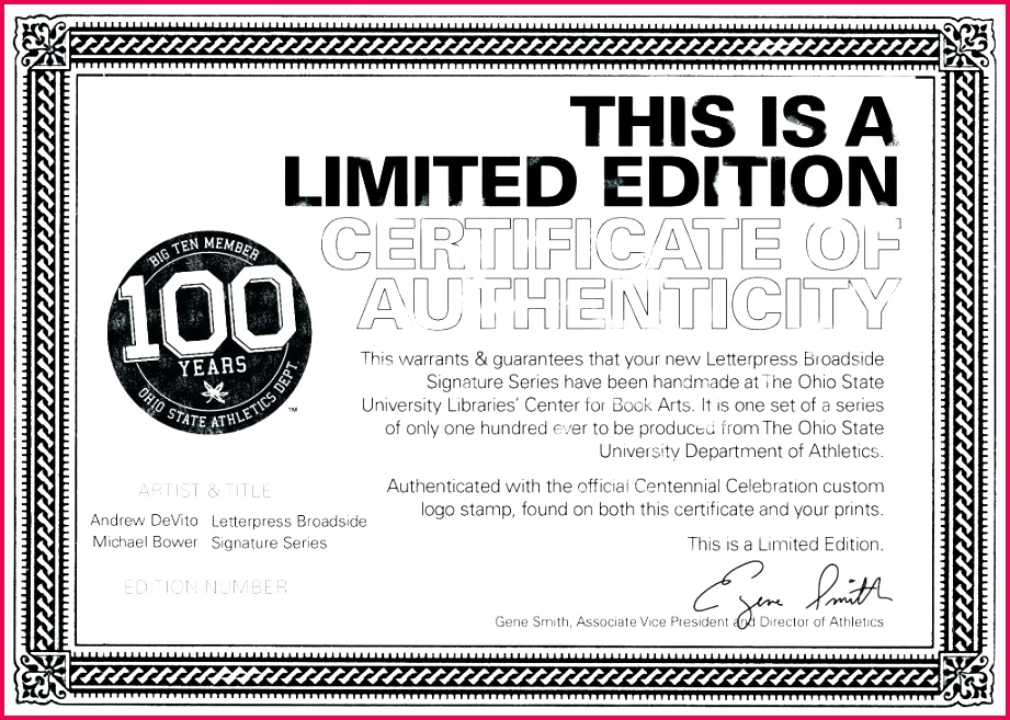 Top Certificate Authenticity Template Free graphy