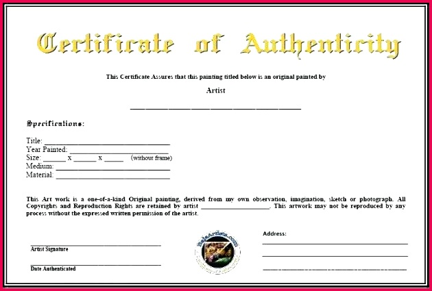 fresh certificate authenticity of art template fine photography