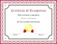 7 Sample Content for Certificate Of Recognition