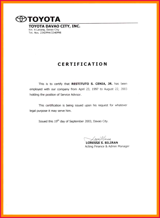certificate attendance sample document best of employee the month template employment certification samples 9 weekly 753x1024