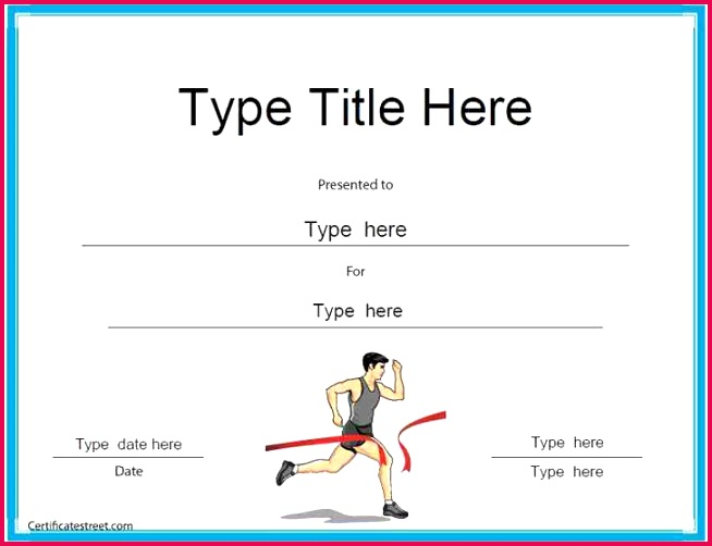 free sports participation certificate templates turabian template 0d example