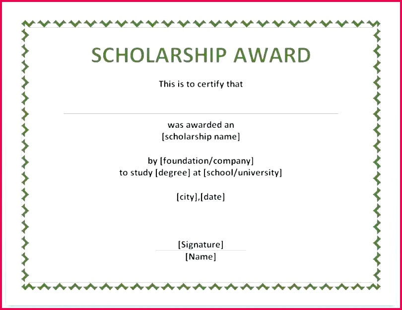 scholarship certificate template word condo memorial auction templates free for cv
