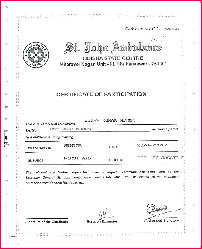 training certificate template free unique 8 first aid word yoga 9 format course tem