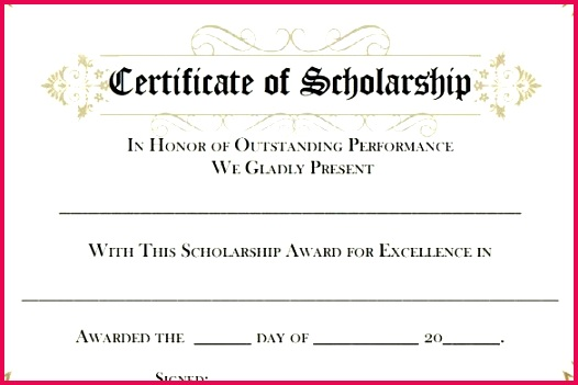 7 scholarship certificate templates word illustrator in printable award template powerpoint 2019