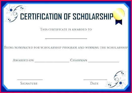 beautiful scholarship certificate template indesign design for example award fresh free templat