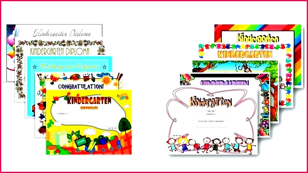 Kindergarten Certificate Template Preschool Graduation Templates Free Elementary School Award Certificates For Students Printable Cer