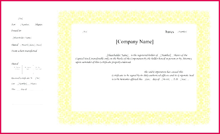 editable share certificate template pany format in word limited free stock