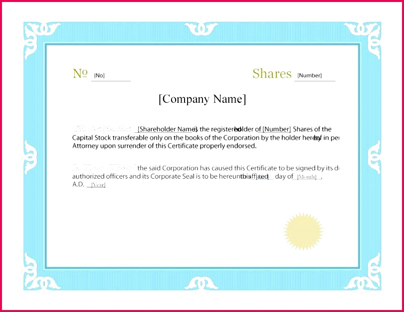 free stock certificate template templates uk share