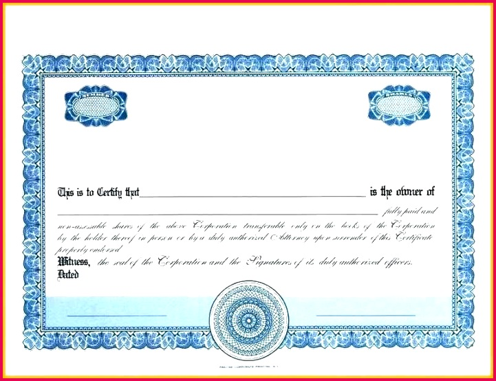 stock certificate template incorporation blank share forms free templates sample uk