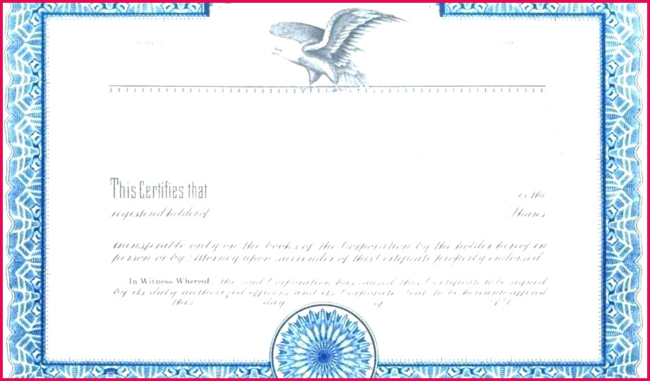 corporate stock certificate template certificates free word canadian share limited pany