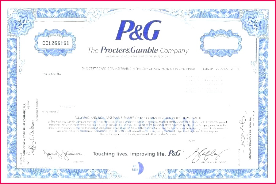 corporate stock certificate template certificates new templates of printable blue share limited pany bunch ide