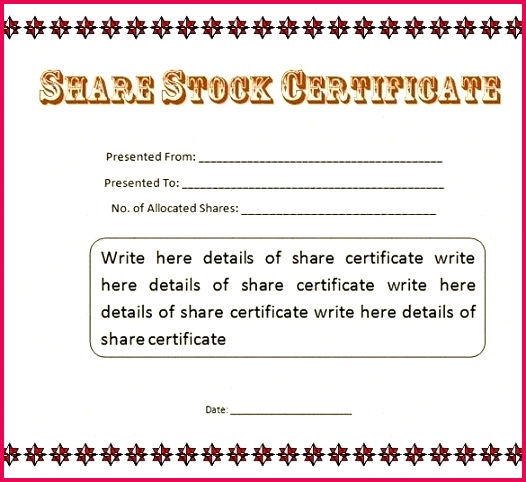 corporate stock certificate template templates word publisher free share ms texas corporation form