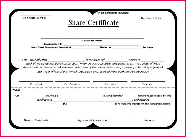 blank share certificates blank stock certificate template blank share certificates free