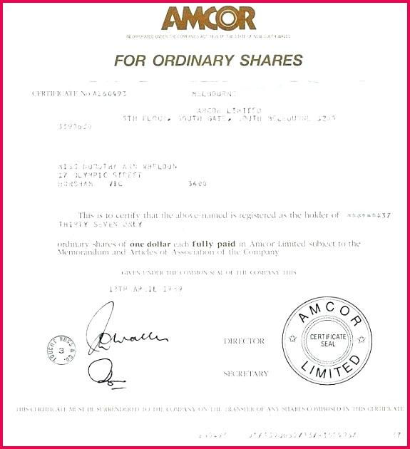 share certificates certificate template free sample uk