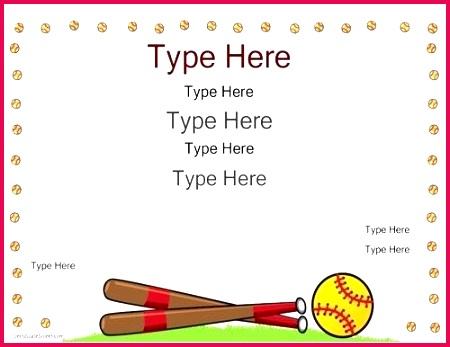 free softball certificate templates sports certificates editable f