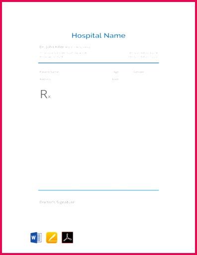 Blank Prescription Template