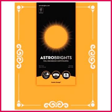 astrobrights foil enhanced certificates 8 1 2 x 11 cosmic orange 25 pk 49a JPG