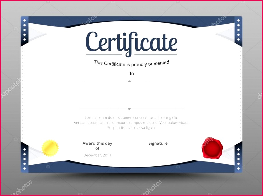 depositphotos stock illustration elegant certificate template business certificate