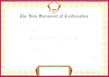 confirmation certificate catholic template c free templates in spanish word