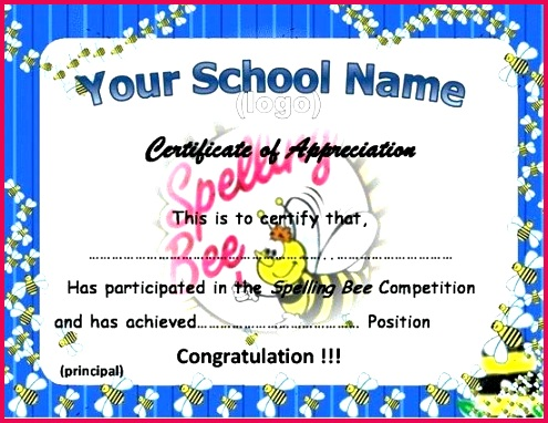 spelling bee certificate template certificates templates and first prize winner grand